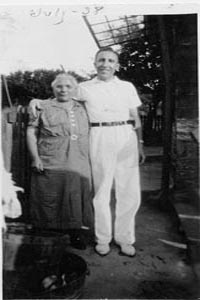Grandmom Aqualina and Uncle George in 1938